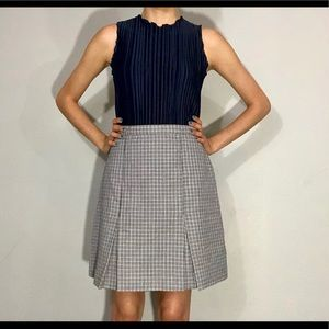 80s does 70s houndstooth skirt